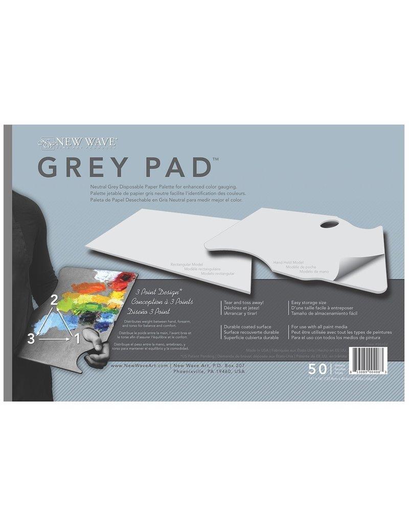 "New Wave Grey Pad Paper Palettes, 11"" x 16"" Rectangular, 50 Shts./Pad"