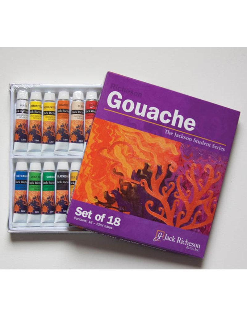 Jack Richeson Richeson Gouache 12ml x 18 colors