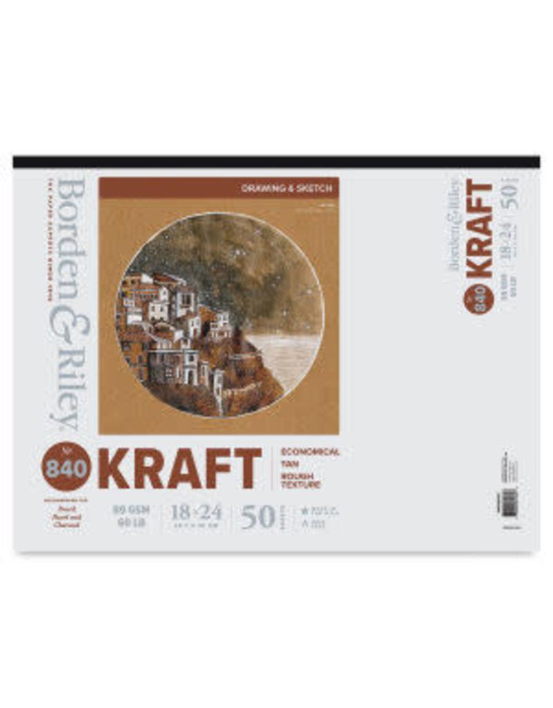 Borden Riley Kraft Paper 50Sh (3) 18X24