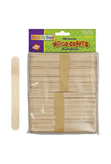 Creativety Street Craft Sticks Jumbo 6In 100Pk