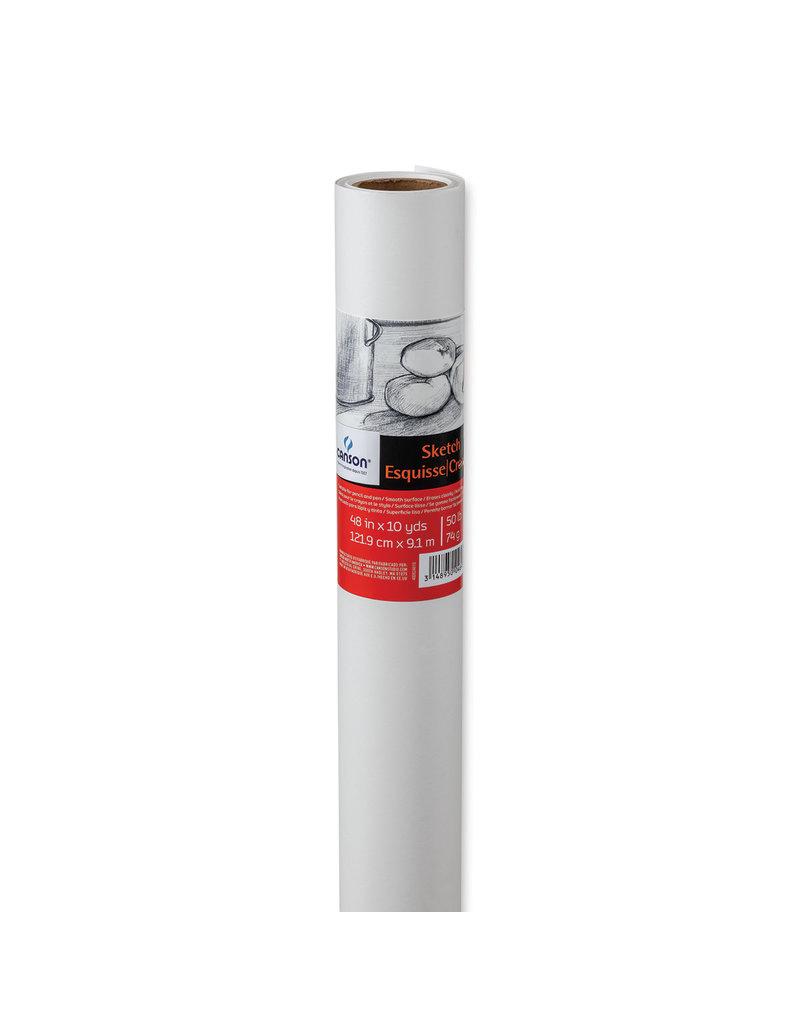 Canson Roll: Sketch 10W White 18X20Yd