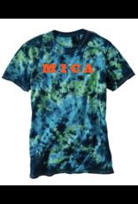 MICA Tie Dye Caribbean  Tee - Orange Logo