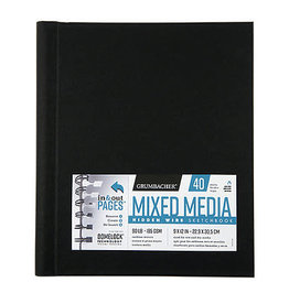 Grumbacher Hidden Wire Mixed Media Sketchbooks, 9'' X 12''