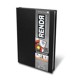 Crescent Board Rendr Hard-Cover Sketch Books, 5.5'' X 8.5''