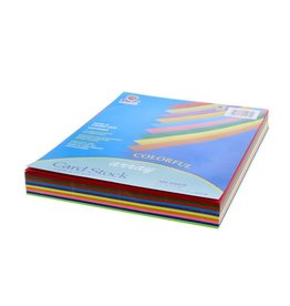 """Pacon Card Stock, Assorted Colors - 100 Sheet Pack - 8-1/2"""" x 11"""" 65 lb."""