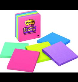 Scotch 3m Post-It Super Sticky Notes - Asst 3X3In 6Pk Pack 65 Sht-Rio De Janeiro