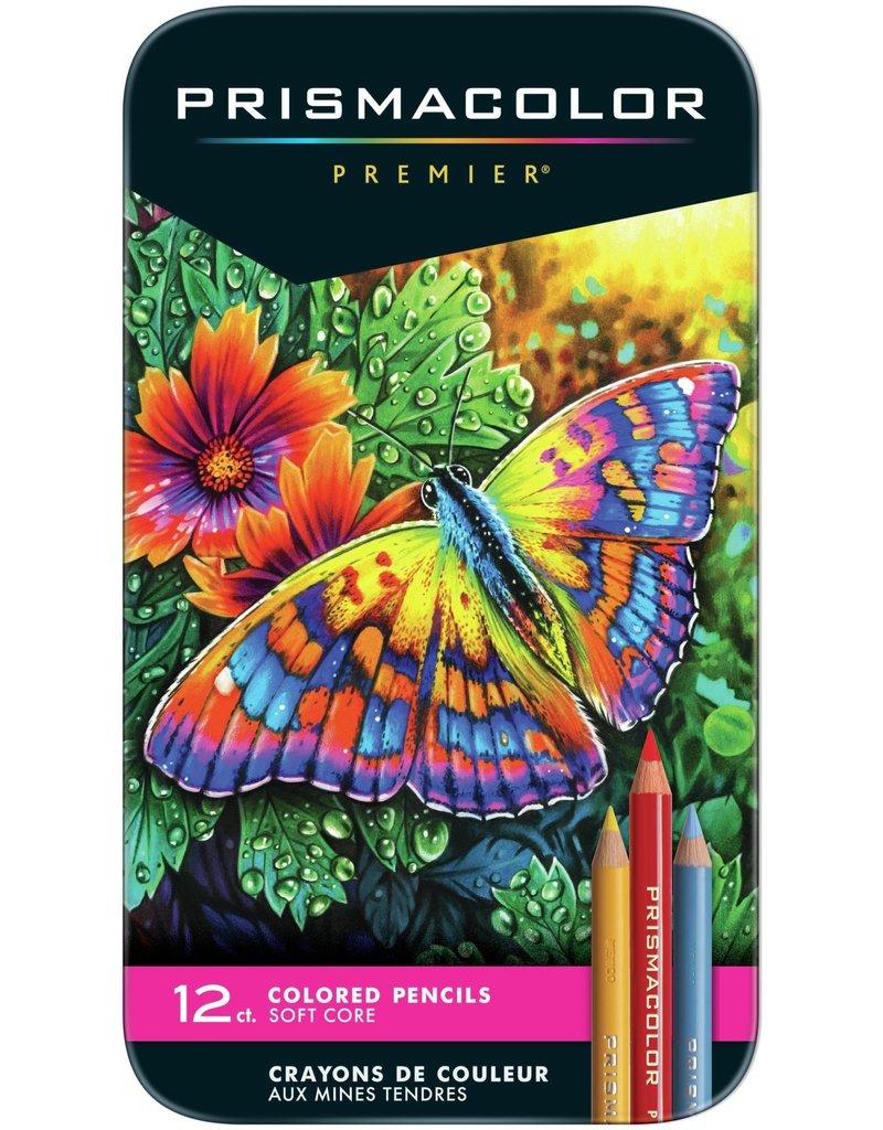 Sanford Prismacolor Premier Thick Core Colored Pencil Sets, 12-Color Set