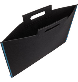 Itoya Profolio Midtown Bags, 19'' X 26'' Black/Blue