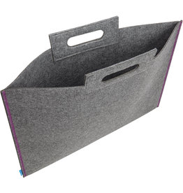 Itoya Profolio Midtown Bags, 23 X 31 Gray/Purple