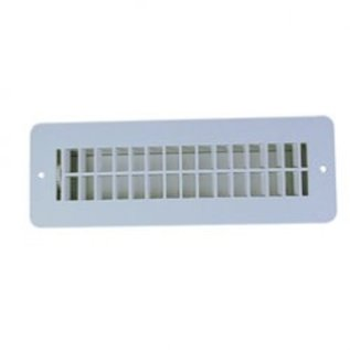 JR Products Floor Register, Undampered, Polar White