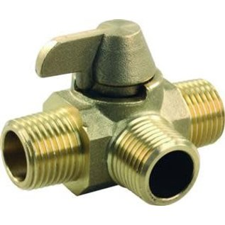 JR Products 3 Way Brass Diverter Valve