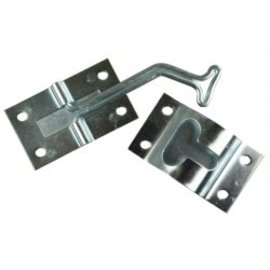 JR Products 45 Degree T Style Door Holder Zinc