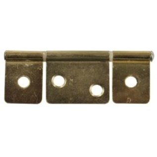 "JR Products 3 1/2"" Non-Mortise Hinge Brass"
