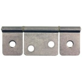 "JR Products 3 1/2"" Non-Mortise Hinge Satin Nickel"