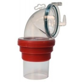 Valterra EZ Coupler 90 Degree Sewer Fitting Clear