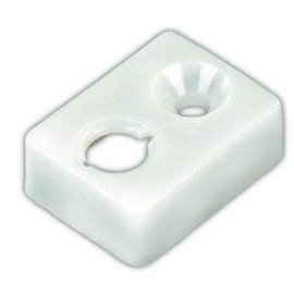 JR Products Type E End Stop White