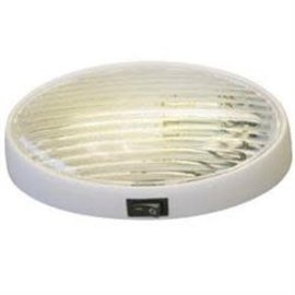 Gustafason Oval Porch Light W/ Switch w/ Clear & Amber Lens
