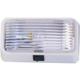 Bargman Bargman Porch Lite Clear Lens w/ Switch