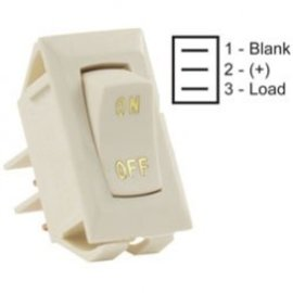 JR Products Ivory On/Off Switch Gold Label