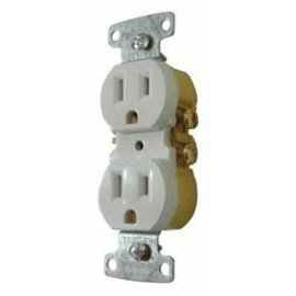 Diamond Group White 110 Volt Receptacle