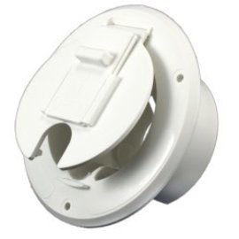 JR Products Round Cable Hatch Polar White