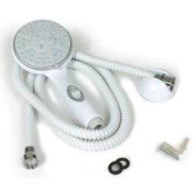 Camco Shower Head & Hose Kit White