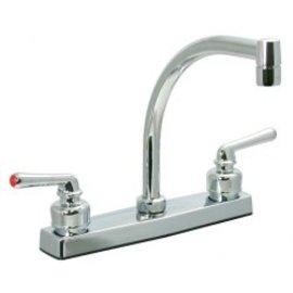 """Phoenix 8"""" Chrome Kitchen Faucet Hi Arc Spout"""