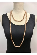 """30"""" Hand Knotted Crystal Necklace - Asst Colors"""