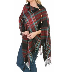 3 in 1 Plaid Wrap - Asst