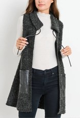 Jodifl Faux Wool Collared Vest
