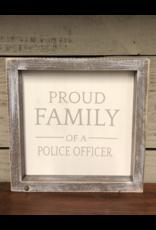 Police Officer Framed Sign