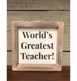World's Greatest Teacher Sign
