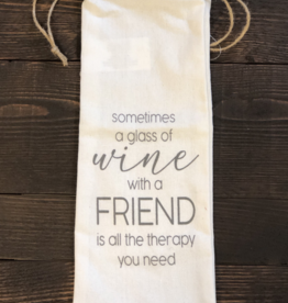 Adams & Co. Wine With A Friend Wine Bag
