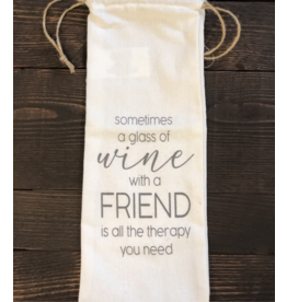 Wine With A Friend Wine Bag
