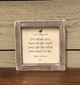"Adams & Co. ""Do what you have to do until you can do what you want to do. "" - Framed Sign"