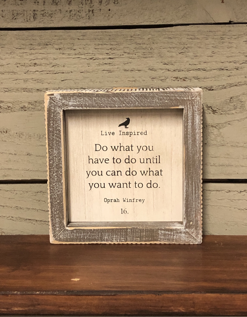 """Adams & Co. """"Do what you have to do until you can do what you want to do. """" - Framed Sign"""