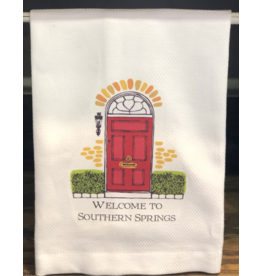 Welcome To Southern Springs Tea Towel