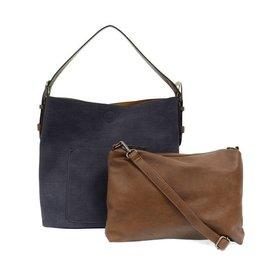 Joy Susan Linen Hobo Handbag With Coffee Handle - Assorted