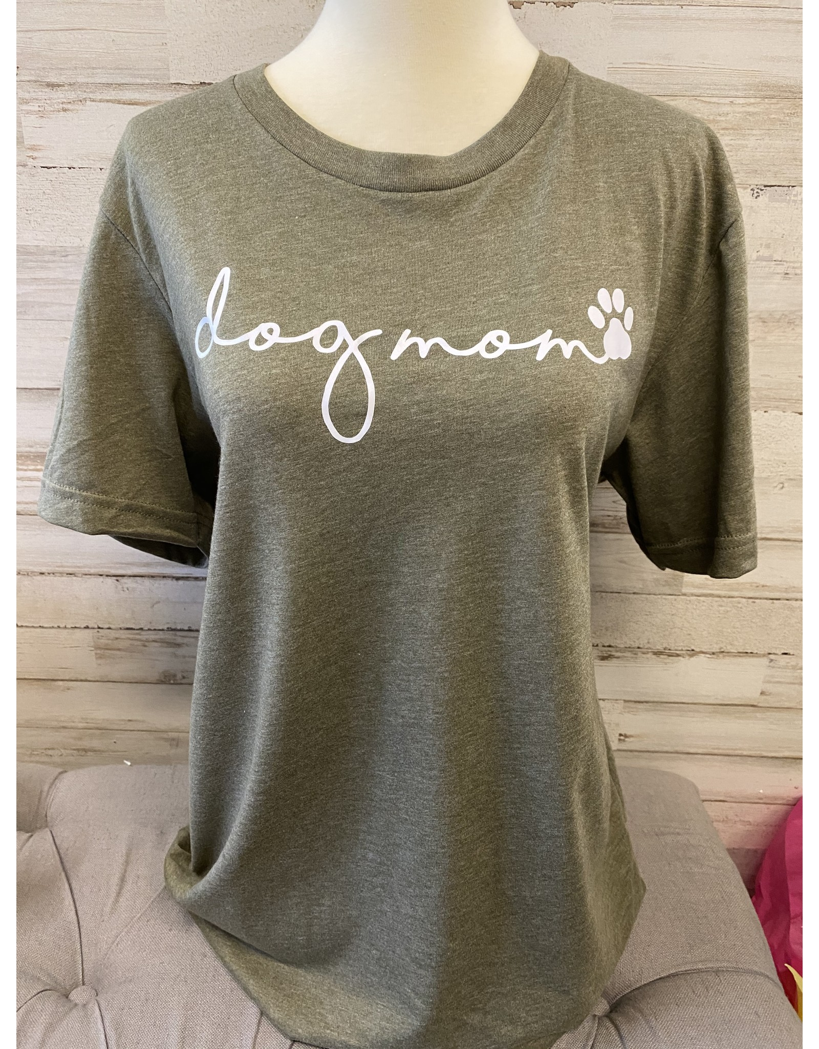 Dog Mom T Shirt - Army Green
