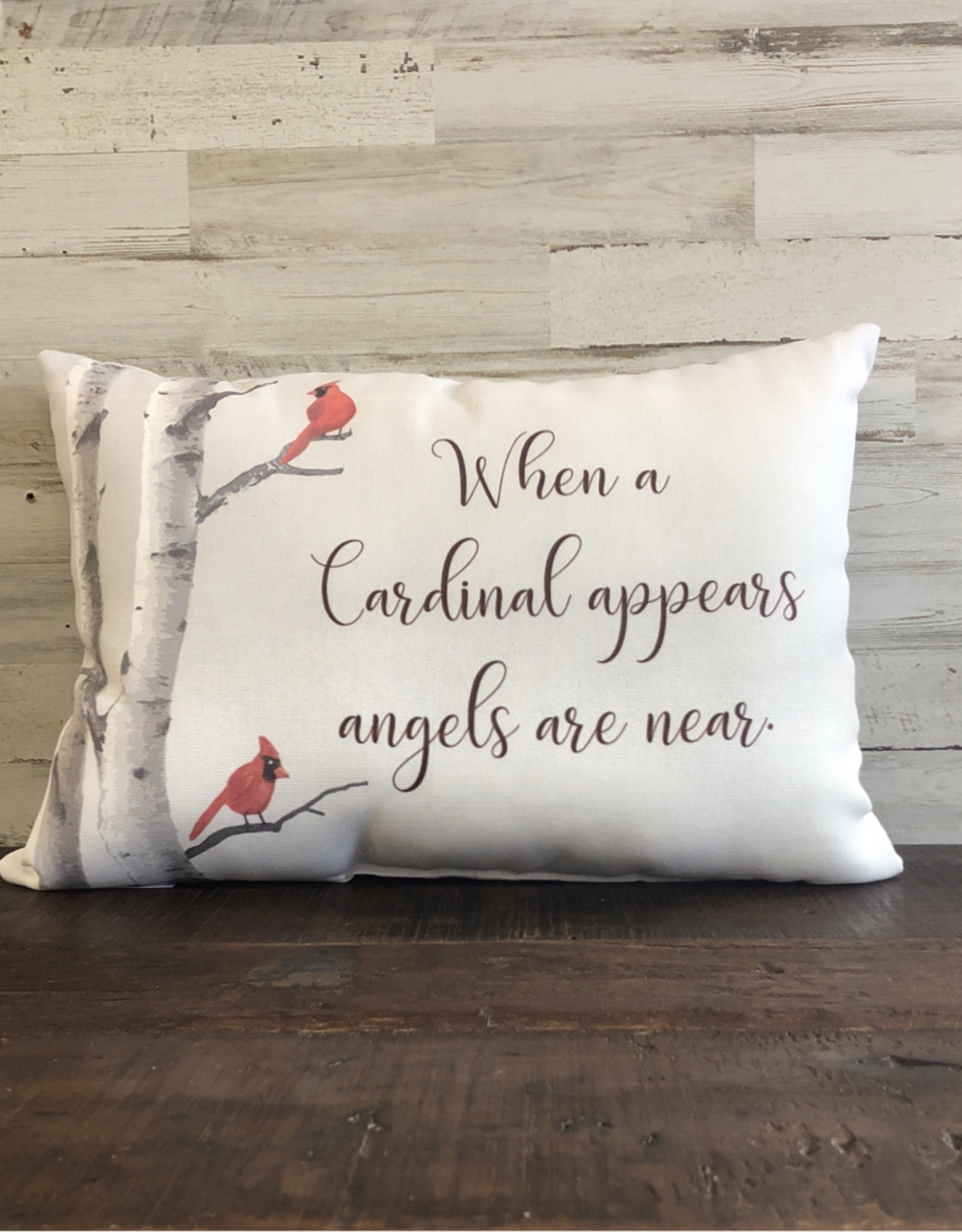 When A Cardinal Appears Pillow 18x18