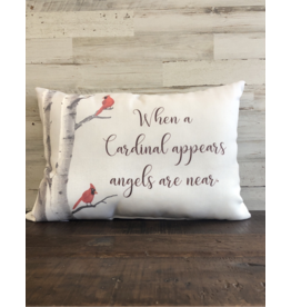 When A Cardinal Appears Pillow