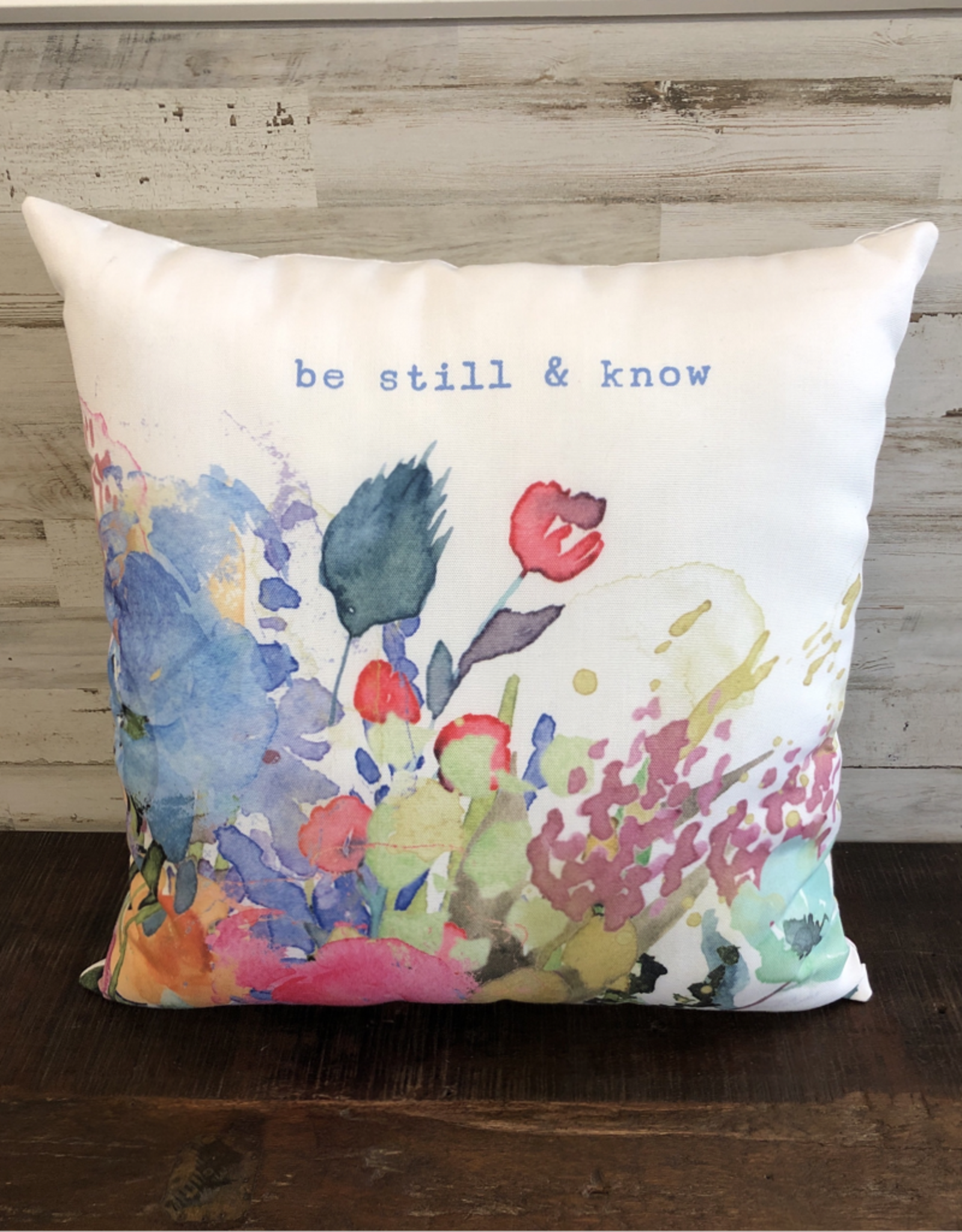 Indoor / Outdoor Be Still & Know Pillow