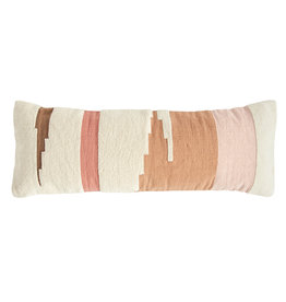 Handwoven Multicolor Cotton Kilim Lumbar Pillow