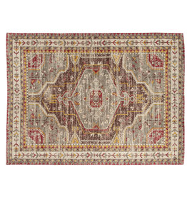 Rug - Multicolor Printed Cotton, 5' x 7'