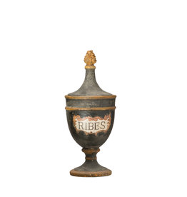 "Vintage Reproduction ""Ribes"" Black Magnesia Pharmacy Urn"