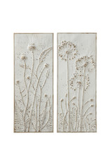 Metal Wall Décor with Flowers (Set of 2 Styles)