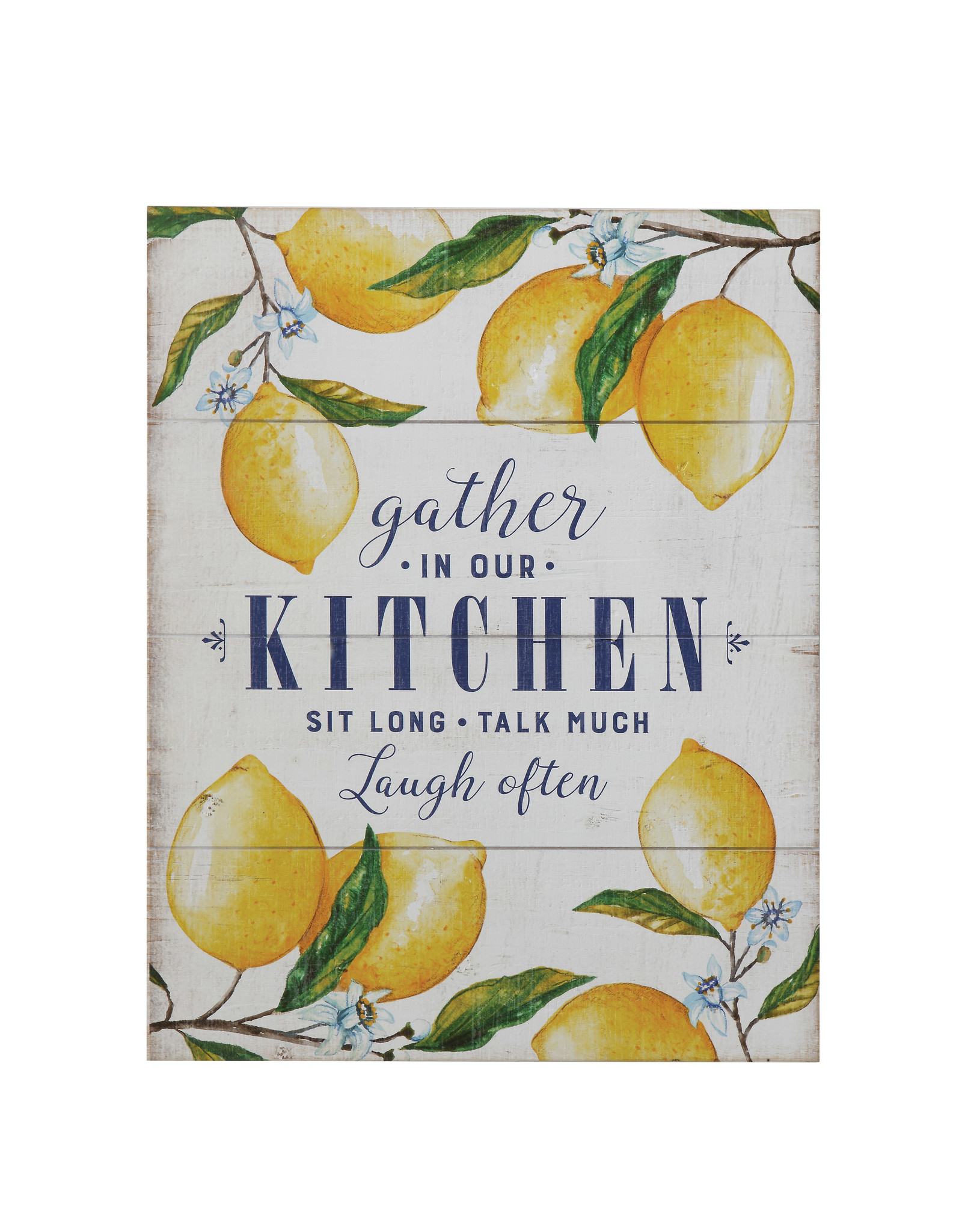 """""""Gather in Our Kitchen…"""" Wood Wall Décor with Lemons"""