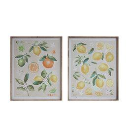 Fruit Image Wood Framed Canvas Wall Décor (Set of 2 Designs)