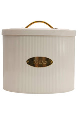 """Oval Metal """"Bread"""" Box with Lid"""
