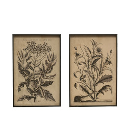 Floral Image Metal Framed Wall Décor (Set of 2 Styles)